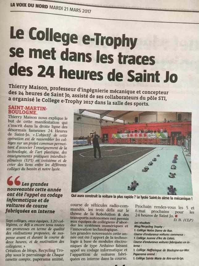 2017 03 11 voix du nord-collège trophy