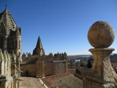Vista de la torre de la catedral de Salamancaa